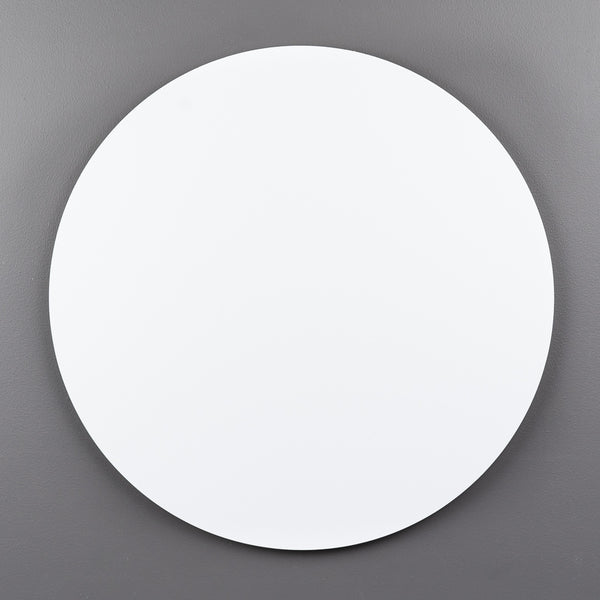 White Aluminium Round Art Boards