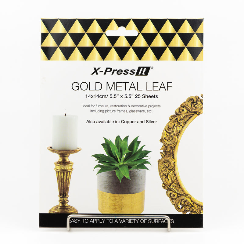 Metal leafing sheets