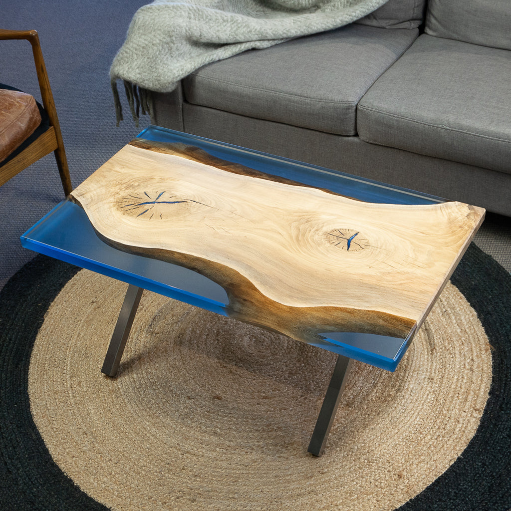 Blue Timber Resin Coffee Table