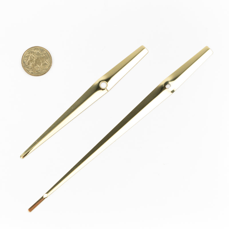 Clock Mechanism & Hand Set 150mm, GOLD