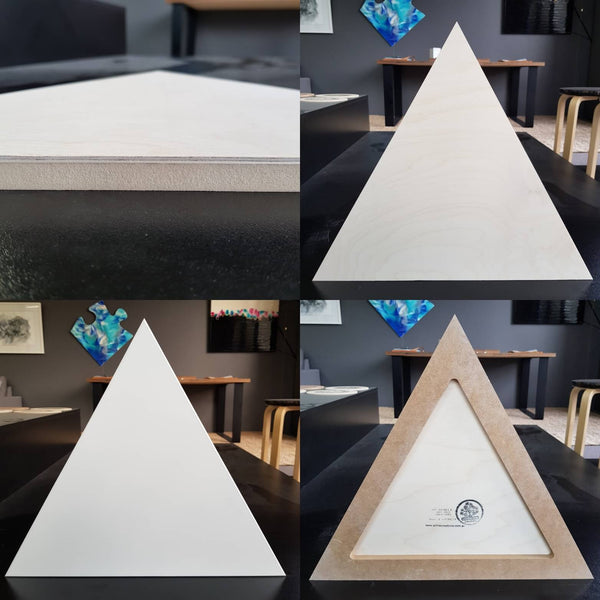Triangle art boards birch and primed