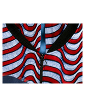Load image into Gallery viewer, Wavy Grey and Red Alternating Stripes