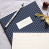 Kartotek Copenhagen Check Notebook - Dark Blue - Leaves Stationery Store