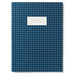 Kartotek Copenhagen Check Notebook - Dark Blue