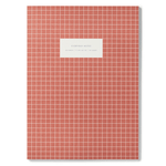 Kartotek Copenhagen Check Notebook - Brick Red