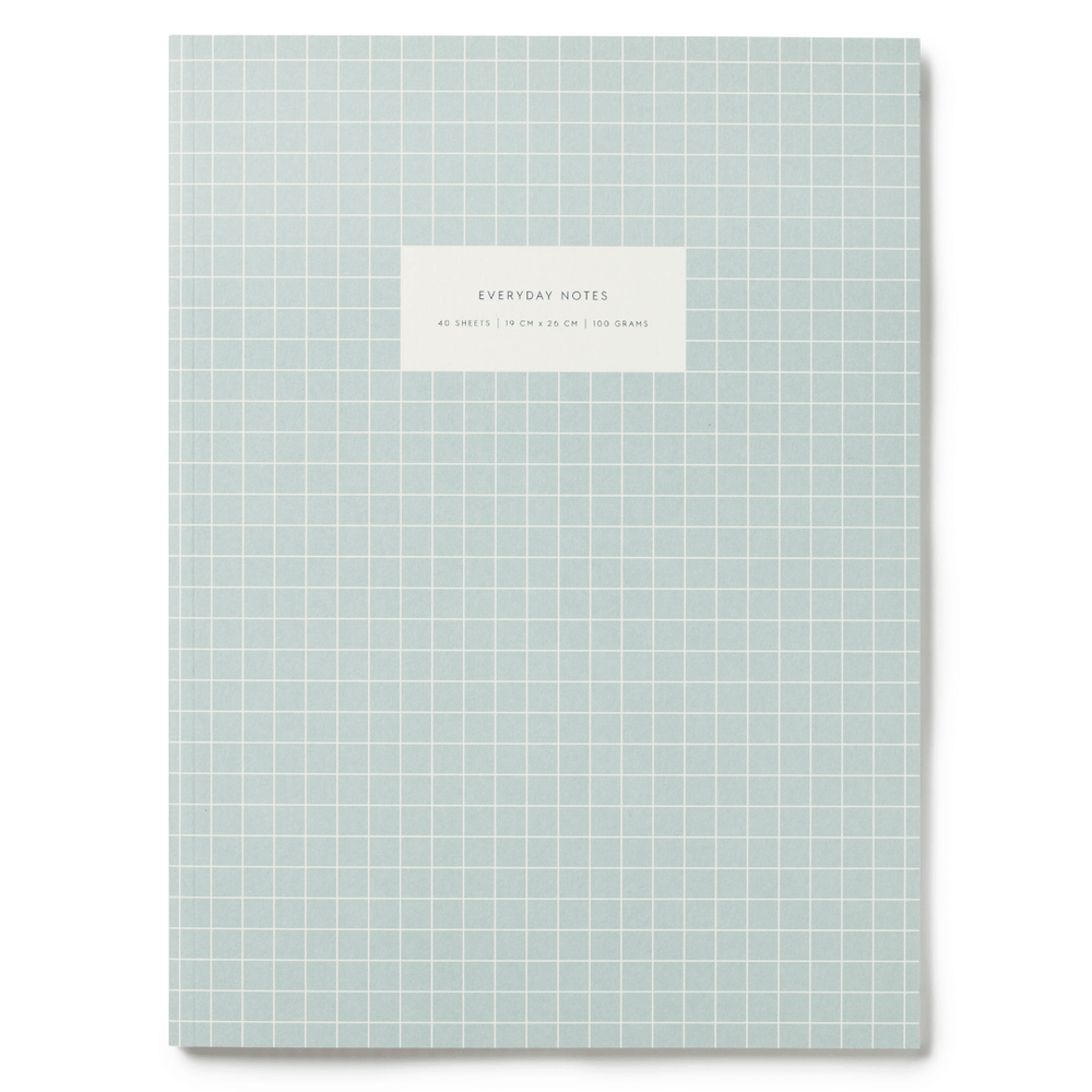 Kartotek Copenhagen Check Notebook - Light Blue