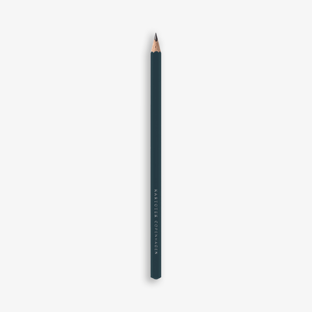 Kartotek Copenhagen Cedar Wood Pencil - Dark Green