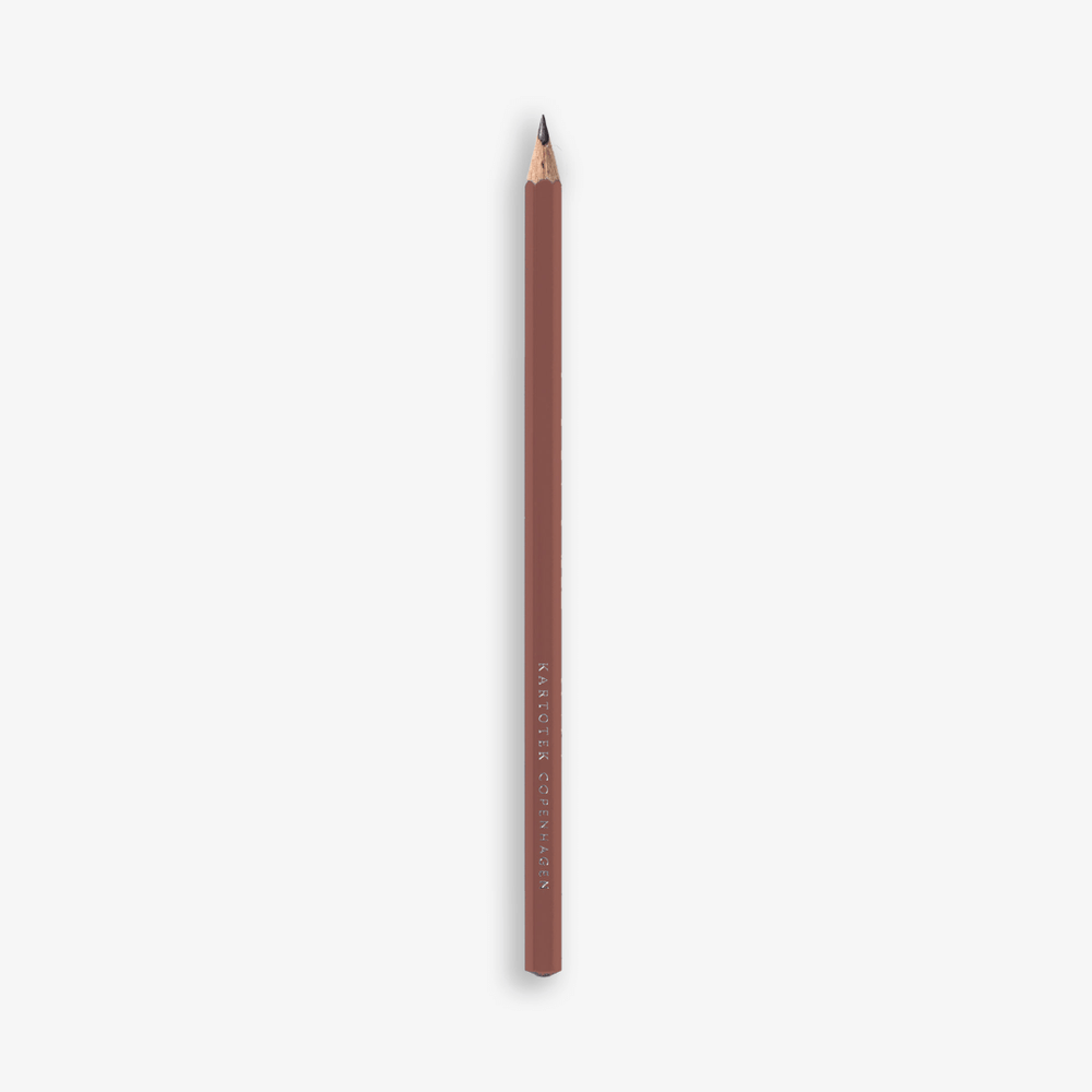 Kartotek Copenhagen Cedar Wood Pencil - Terracotta
