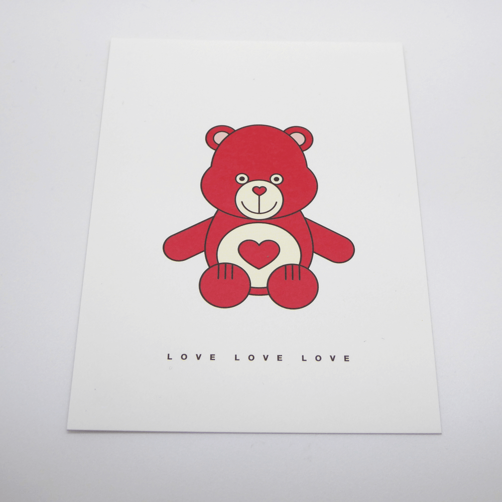 Red Fries Postcard, Love Bear