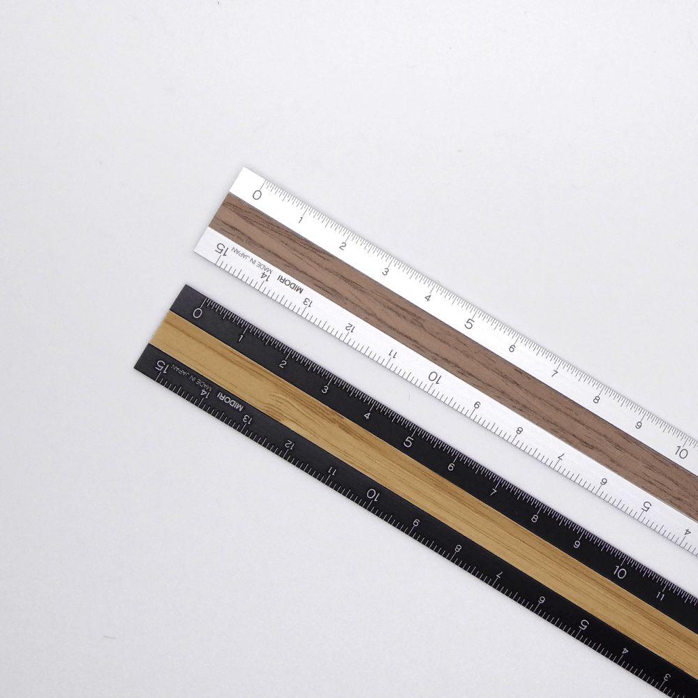 Midori Aluminium and Wood Ruler