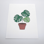 Red Fries Postcard, Monstera