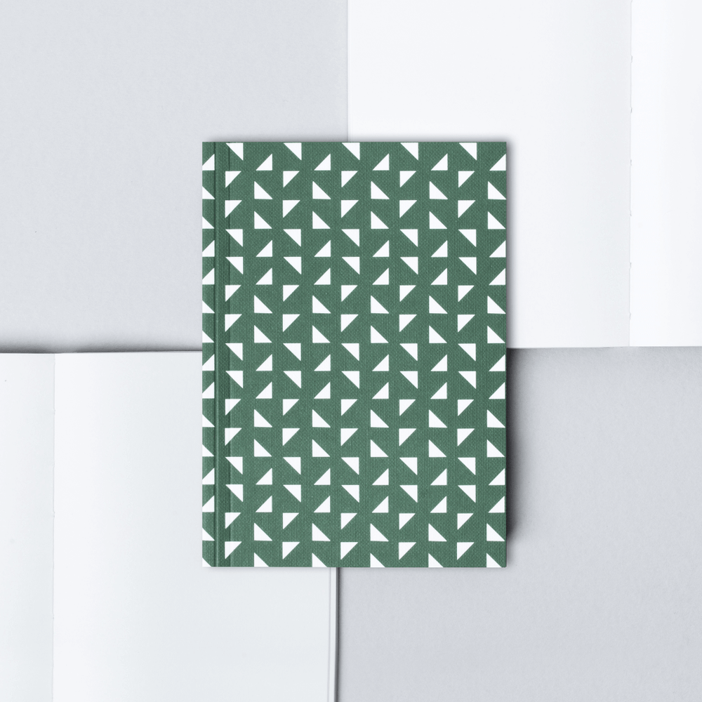 Ola Pocket Notebook Triangle Print - Green