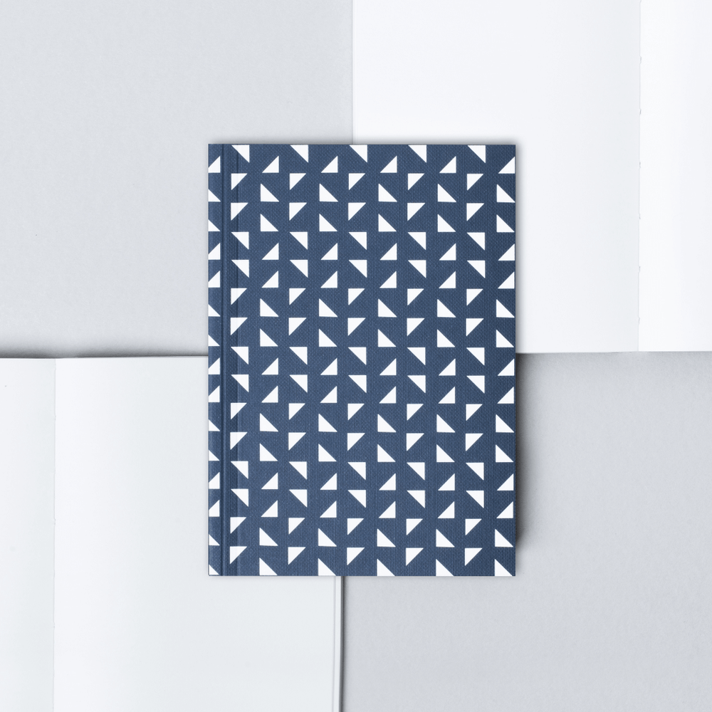 Ola Pocket Notebook Triangle Print - Navy