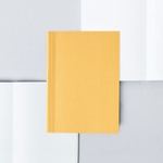 Ola Pocket Dotted Notebook, Mustard Yellow