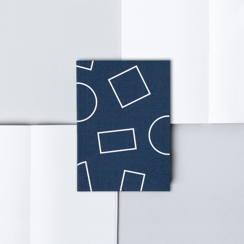 Ola Pocket Weekly Planner, Shapes - Navy