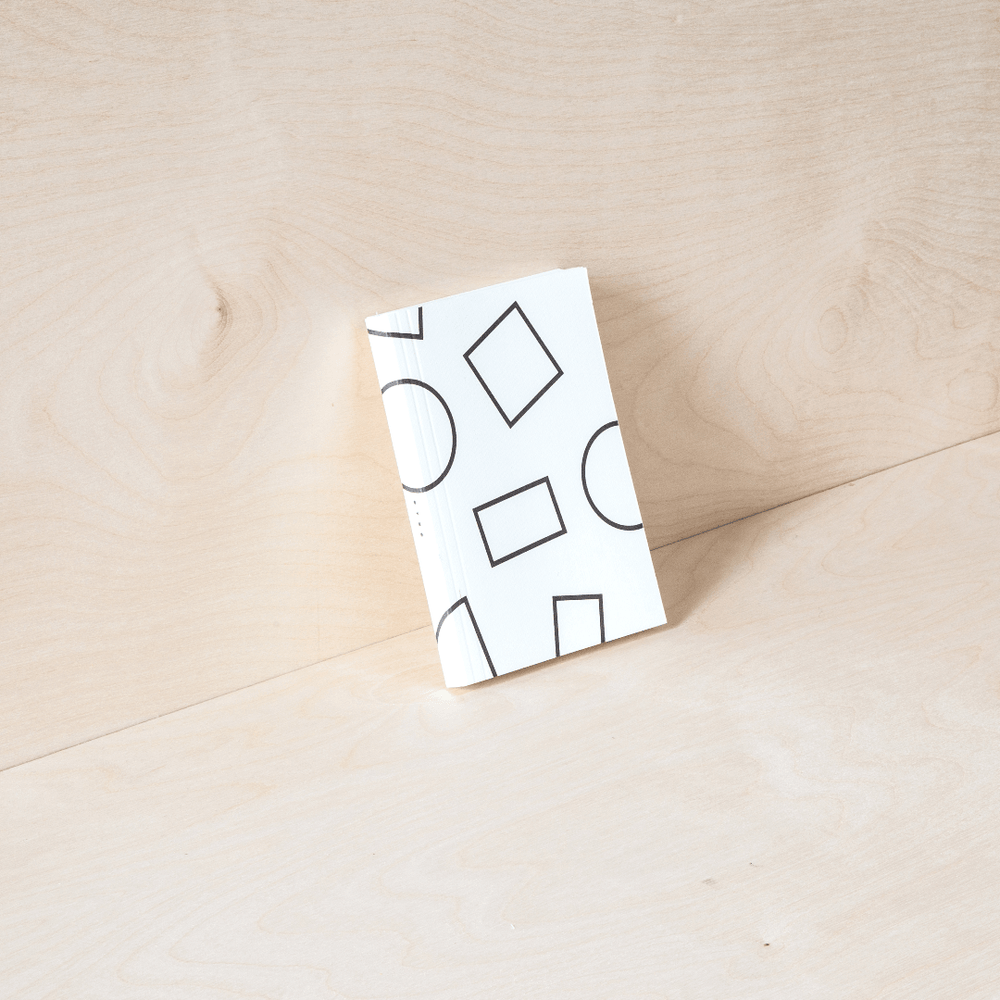 Ola Pocket Weekly Planner, Shapes - White - Leaves Stationery Store