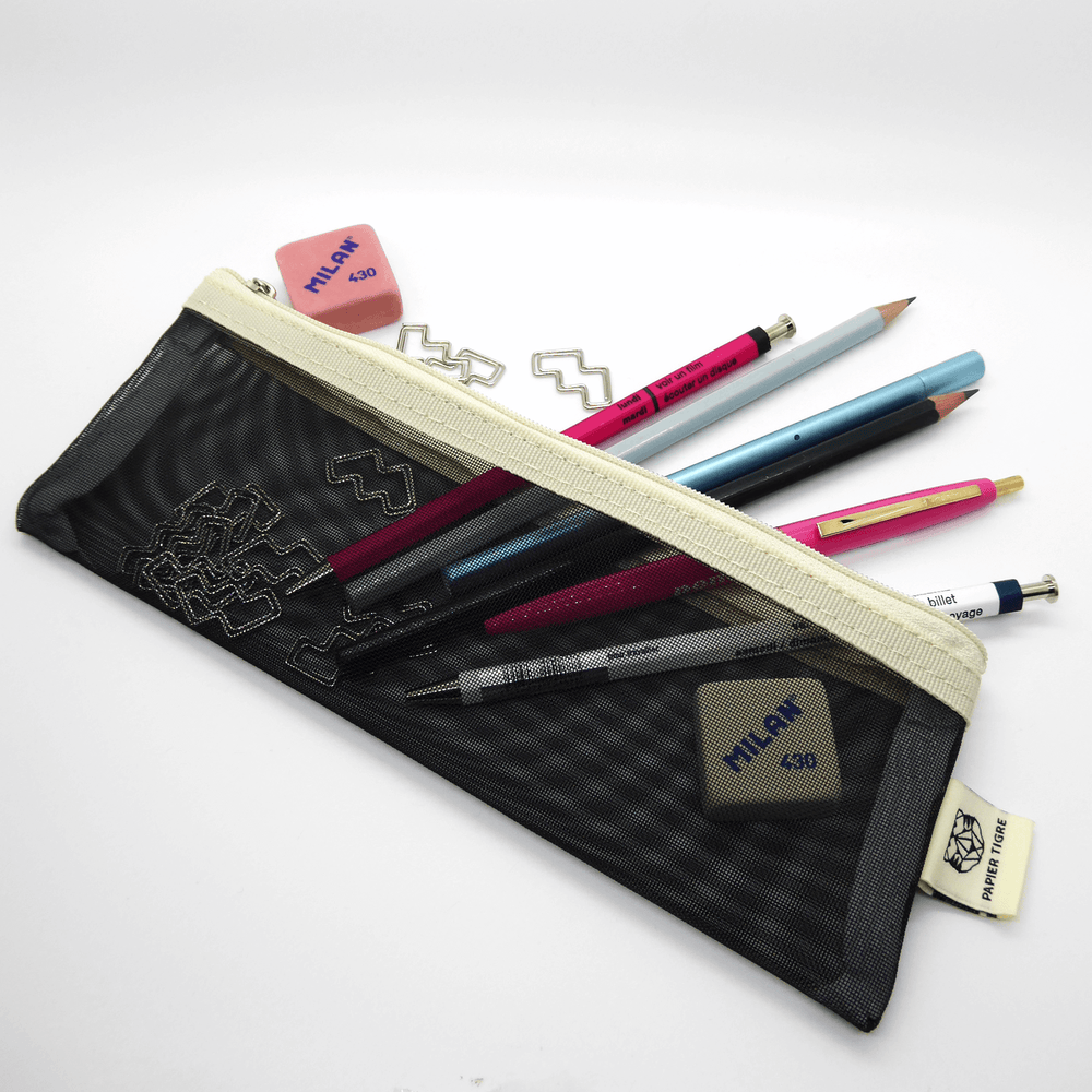 Papier Tigre Pencil Case - Black