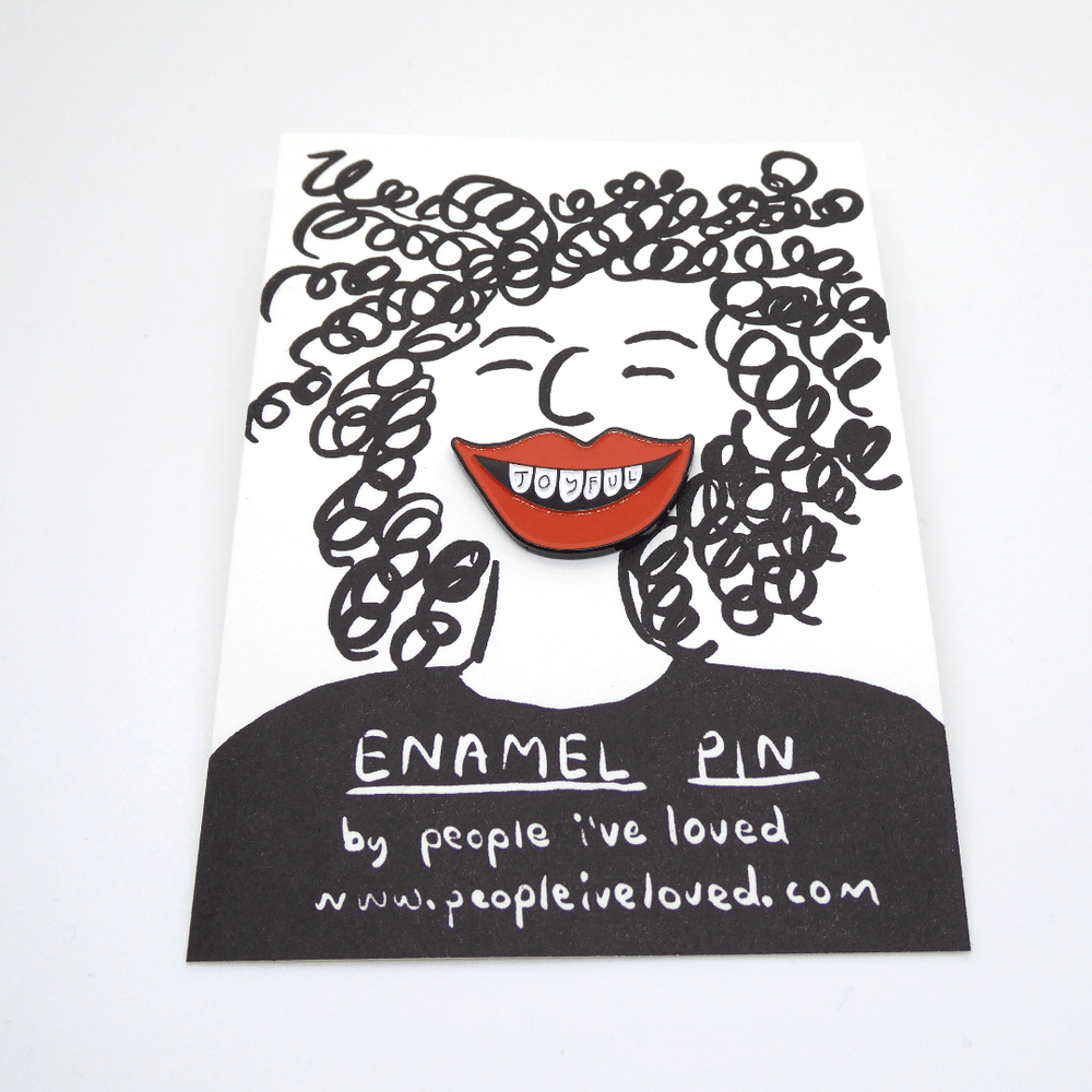 People I've Loved Enamel Pin - Joyful