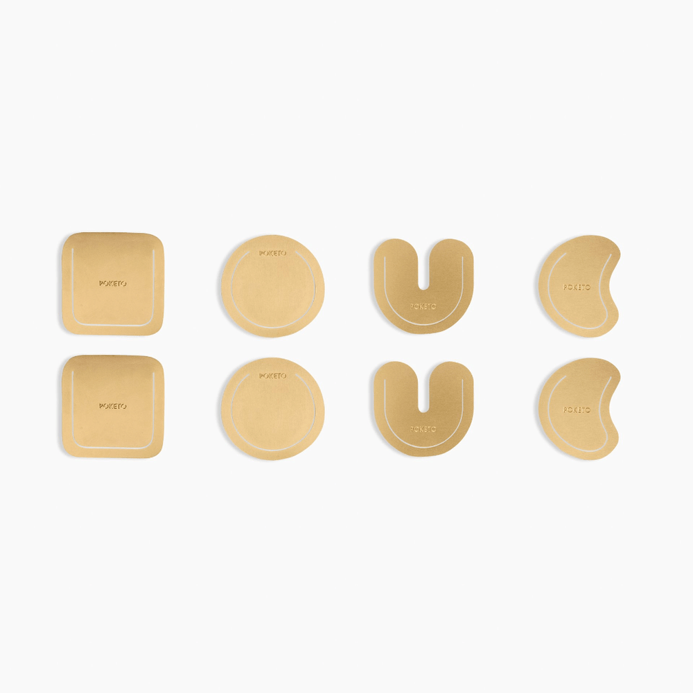 Poketo Brass Clips - Organic Shapes - Leaves Stationery Store