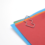 Poketo Metal Paper Clips - Chrome Steps - Leaves Stationery Store