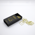 Poketo Metal Paper Clips - Gold Square