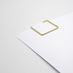 Poketo Metal Paper Clips - Gold Square - Leaves Stationery Store