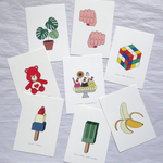 Red Fries Postcard, Banana - Leaves Stationery Store