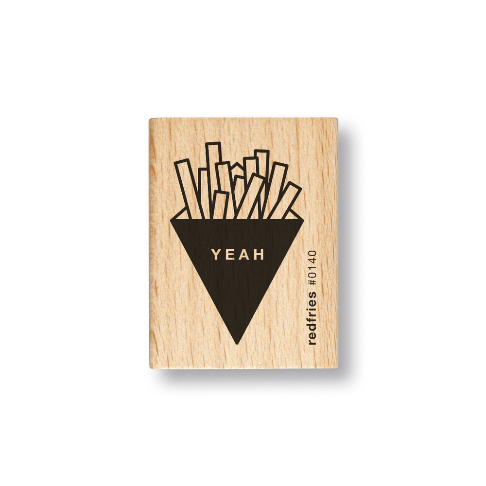 Red Fries Rubber Stamp - Fries - Leaves Stationery Store