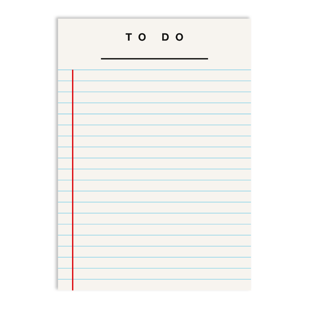 Red Fries To Do Notepad - White - Leaves Stationery Store
