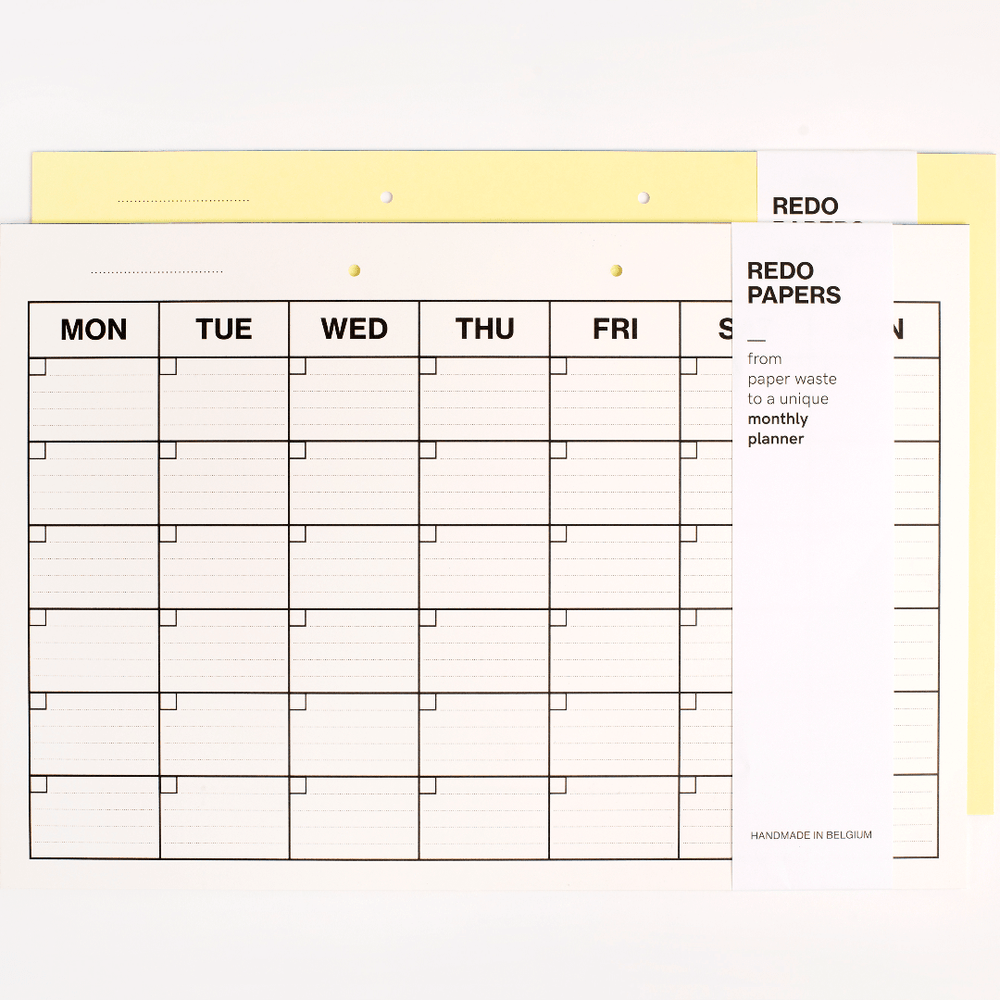Redo Papers Monthly Planner