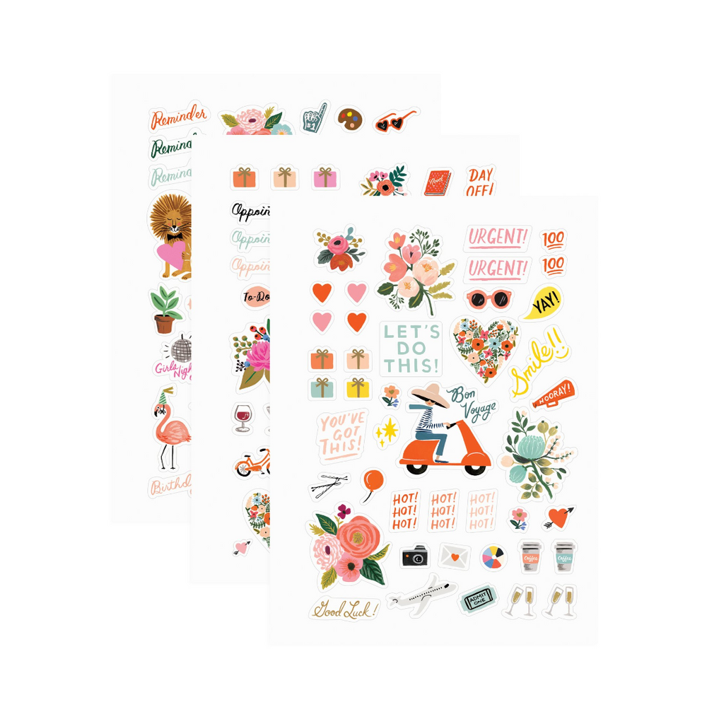 Rifle Paper Co Stickers - Leaves Stationery Store