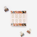 Rifle Paper Co. Binder Clips - Lively Floral - Leaves Stationery Store
