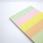 Rifle Paper Co Weekly Colour Block Memo Notepad - Leaves Stationery Store