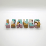 Studio Emma Mini Concrete Letters - Pastels - Leaves Stationery Store