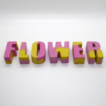 Studio Emma Mini Concrete Letters - Pink & Yellow - Leaves Stationery Store