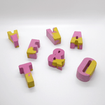 Studio Emma Mini Concrete Letters - Pink & Yellow