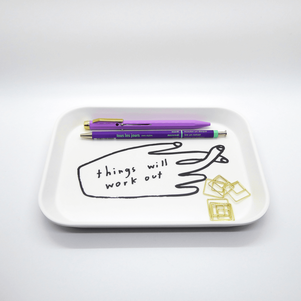 People I've Loved Tray - Things Will Work Out - Leaves Stationery Store