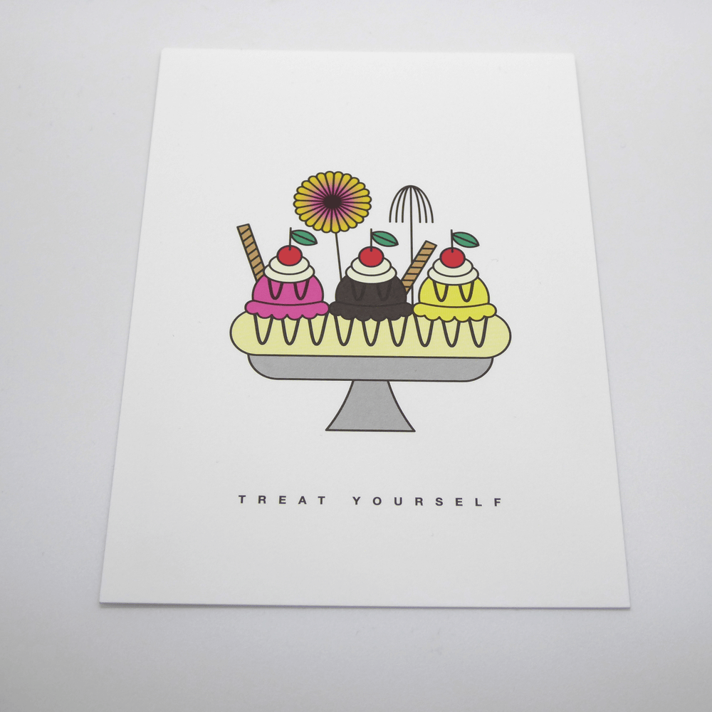 Red Fries Postcard, Banana Split