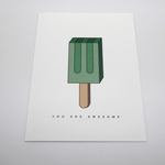 Red Fries Postcard, Popsicle