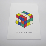 Red Fries Postcard, Magic Cube - Leaves Stationery Store