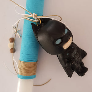 Blue Batman lambada with cross and beads  - Easter collection