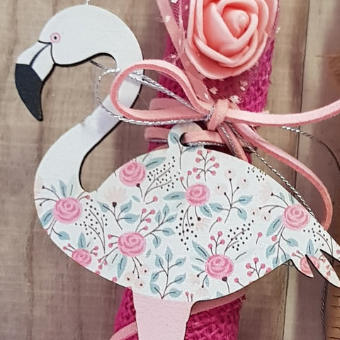 Flower print flamingo lambada with roses  - Easter collection