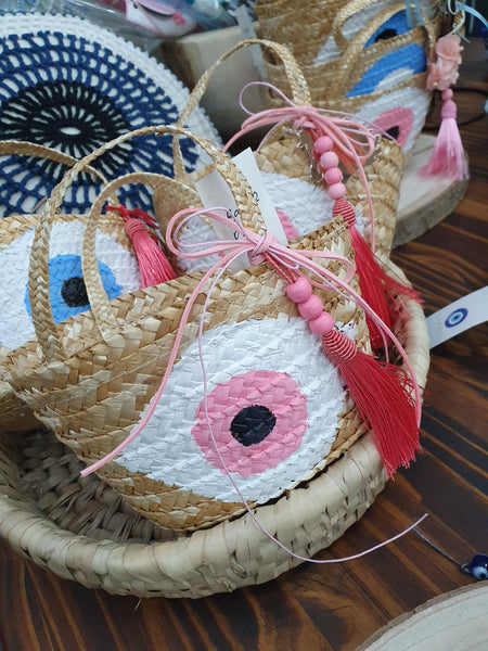 Baby pink mati basket - Easter collection