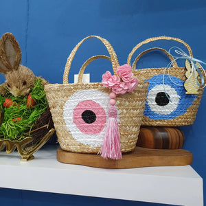 Baby blue mati basket - Easter collection