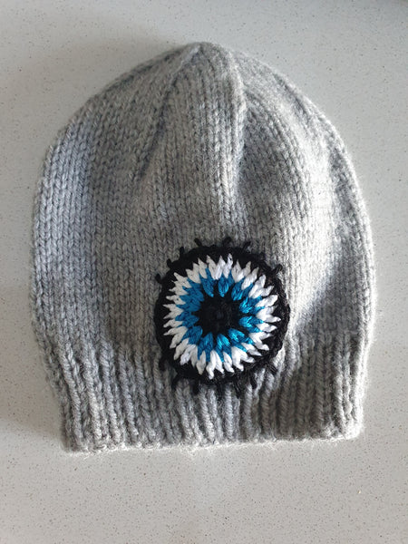 Knitted mati eye beanies