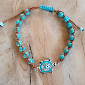 blue turtle weaved bracelet