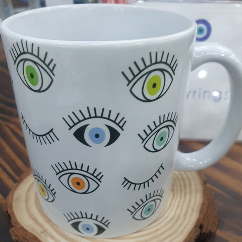 Colourful eye mug