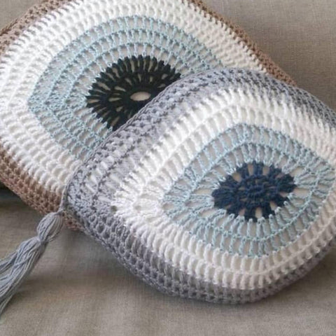 Crochet mati cushion
