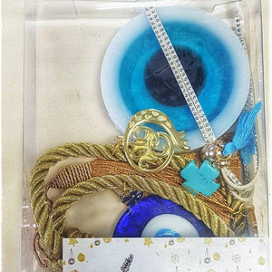 Gold gouri and Santorini blue soap set - Christmas collection