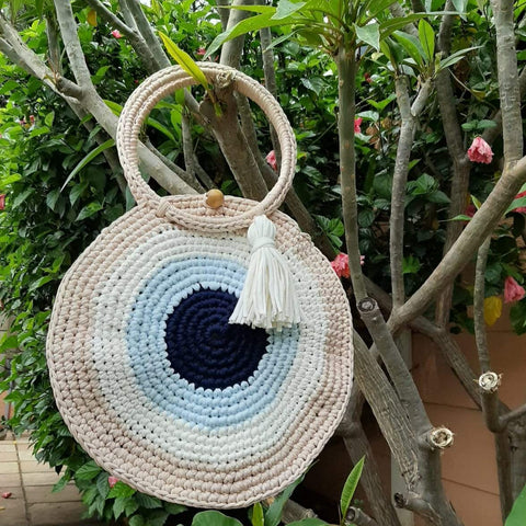 Mati crochet beach bag